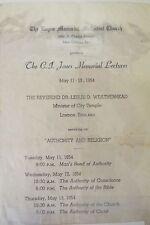 Leslie D. Weatherhead 1954 Signed Pamphlet