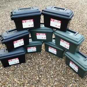 EMPTY AMMO BOX PLASTIC MTM CASE-GARD 30CAL AC30T STORAGE BOX TOOL BOX FIELD BOX