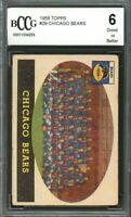 1958 topps #29 CHICAGO BEARS team card BGS BCCG 6