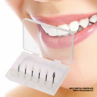 6×Dental Porcelain Teeth Polisher Polishing Kit Oral High-speed Restoration Tool