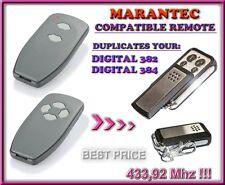 Marantec Digital 382 / Digital 384 compatible remote control, 433,92 MHz CLONE