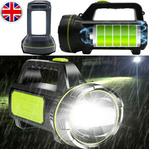 200000LM Powerful LED Flashlight USB Rechargeable Searchlight Torch Camping Lamp