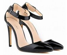 Patent Leather Mary Janes Slim Solid Heels for Women