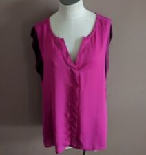 CAbi Women's S Campo Bougainville Top Mesh Sleeve Fuchsia 5033 Blouse Career