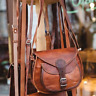 New Women's Vintage Brown Soft Leather Messenger Cross Body Bag Handmade Purse
