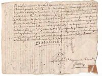 1712 Louis XIV King advisor marquis manuscript letter signature ORIGINAL