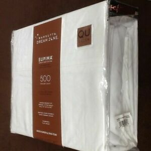 Brand New WHITE Wamsutta Dream Zone 500 TC 100% Supima Cotton QUEEN Sheet Set