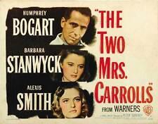 THE TWO MRS. CARROLLS Movie POSTER 22x28 Half Sheet B Humphrey Bogart Barbara