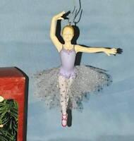 1999 Hallmark Keepsake DANCE FOR THE SEASON Purple Ballerina Christmas Ornament
