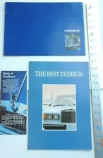 Rolls Royce Literature - 3 Brochures NEW