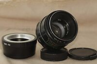 Helios 44-2 58mm F2 Russian Lens + adapter for FujiFilm FX Mount X-Pro1 X-E1 N2