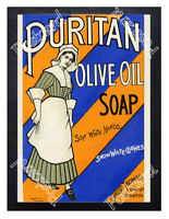 Historic Puritan Olive Oil Soap, c.1900. Advertising Postcard