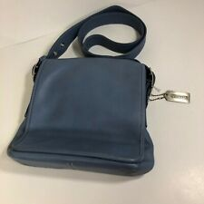 Coach Legacy Blue Flap Messenger Bag 9335 Denim Blue Leather