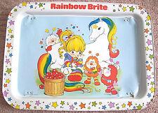Rainbow Brite Metal Lap Tray Folding Legs 1983 Hallmark Cards 80s Starlite Twink