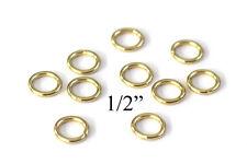 "0.5"" Macrame Ring PACK of 25 Metal Ring Hoop Brass, Gold Toned"