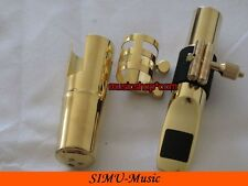 Professional Metal Tenor Saxophone Mouthpiece Gold Plated-B2 Model 7#