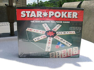 Star Poker Fast Moving Tile Poker Game By Pressman 1994~New & Factory Sealed!
