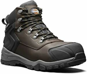 Mens Leather Waterproof Non Metal Composite Toe Safety Work Boots Shoes Size