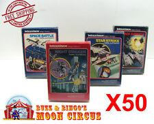 50X INTELLIVISION GAME CIB TALL BOX - CLEAR PLASTIC PROTECTIVE BOX PROTECTORS