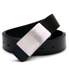 HU Hommes Faux cuir reglable Alliage Boucle ceinture noir