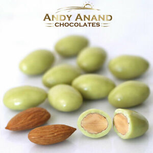 Andy Anand roasted Matcha green tea Almonds White Chocolate Free Shipping 1 lbs