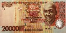 2003 Bank of Ghana 20000 Cedis Colorful Note Extra Fine- Almost Uncirculated