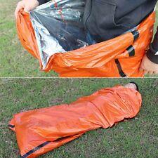Emergency Sleeping Bag Reusable Waterproof Foldable Thermal Bivy Sack New