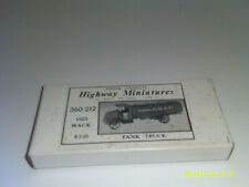 Jordan Highway Miniatures 1923 Mack Tank Truck  360-212  HO Scale 1/87 Scale