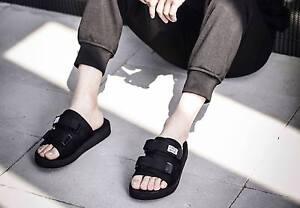 Suicoke Visvim Style Black Platform Sandals Slides Slippers Unisex Summer Street