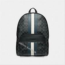 NWT COACH Houston in Signature Canvas with Varsity Stripe F67250