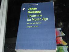 L'automne du Moyen Age. Johan Huizinga
