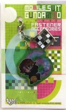 Gundam 00 Lockon Fastener Accessory June Metal Charm Anime Manga Game MINT