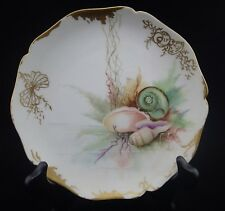 Antique Porcelain French Limoges, William Guerin Sea Shells Plate