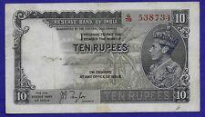 British India - 3 X 10 Rupees KGVI