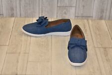 Soft Style Padme Slip Ons-Women's size 7.5 W Blue Denim