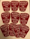 Vintage Madison County Fire Fighters Association Jacket Patches Lot Of 10