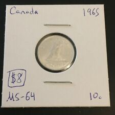 1965 10 Cent Canada No Reserve!  (Coin #819)