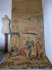 Authentic Large Antique  French Chateau Tapestry  Wall Art