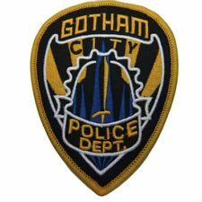 "Batman Gotham Police Dept 4 1/2"" Tall Embroidered Iron on Patch"