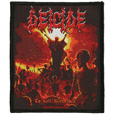 Deicide Men's To Hell With God Woven Patch Black