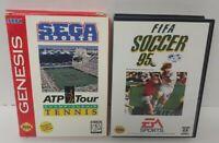 Sega Sports ATP Champ Tennis + Fifa 95 Soccer Sega Genesis Working 2 Game Lot