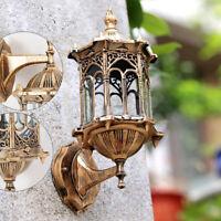 Retro Antique Vintage Rustic Lantern Lamp Wall Sconce Light Fixture Golden E27