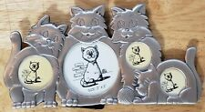 Pewter Multi-Photo Cat Picture Frame-Easel Back