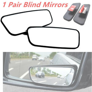 2× 360° Side Auxiliary Blind Spot Wide Angle Convex Mirror Rearview For Any Car