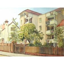 Winford Court Downs Park West Bristol Landscape Watercolour Painting Holloway