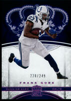 2017 Panini Crown Royale Pink #25 Frank Gore 220/249 Colts Football NFL