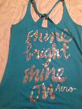 Aeropostale Live Love Dream Bling Sequin Glitter Tank Top Shirt Small
