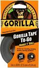 Gorilla Tape Handy Roll, Double-Thick Adhesive 1-Pack,Black Tough,