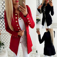 Women OL Long Sleeve Slim Fit Casual Blazer Suit Jacket Coat Outwear