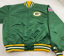 Vintage PRO LINE by STARTER NFL Green Bay Packers Satin Nylon Jacket Mens XL